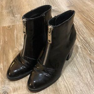 Dolce Vita Patent Leather Black Booties